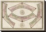 Globo Terrestre, c.1792 Stretched Canvas Print by Giovanni Maria Cassini