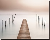 Lake Walk I Stretched Canvas Print by Jonathan Chritchley