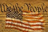 Joseph Sohm - Constitution and U.S. Flag - Reprodüksiyon