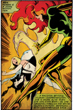 Marvel Comics Retro: X-Men Comic Panel, Phoenix, Emma Frost, Fighting (aged) Poster