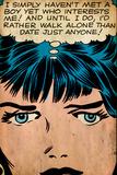 Marvel Comics Retro: Love Comic Panel, Proud Single Woman (aged) Plakater