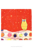 Feathers, Dots & Stripes I Prints by Ingrid Blixt