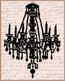 Chandelier Calligraphy II Poster by Sharyn Sowell