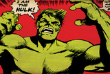 Marvel Comics Retro: The Incredible Hulk Comic Panel (aged) Art