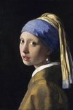 Tyttö ja helmikorvakoru Poster tekijänä Jan Vermeer