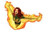 Marvel Heroes: Phoenix Flying, Flaming Plakater