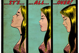 Marvel Comics Retro: Love Comic Panel, Crying, It's All Over! (aged) Prints