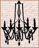 Chandelier Calligraphy I Prints by Sharyn Sowell