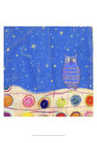 Feathers, Dots & Stripes II Print by Ingrid Blixt