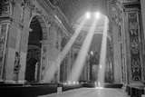 Sunbeams Inside St. Peter's Basilica Plakater af Owen Franken