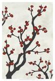 Red Berry Branch I Poster von Erica J. Vess