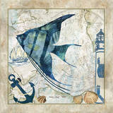 Nautical Fish II Art by Jill Meyer