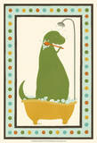 Rub-A-Dub Dino II Affiches par June Erica Vess