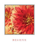 Believe Flowers Stampe di Maureen Love