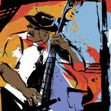 Jazz Man Posters av Cathy Johnson
