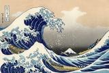 Pod falą, Kanagawa Poster autor Katsushika Hokusai