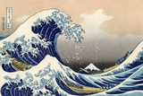 Under the Wave off Kanagawa Poster tekijänä Hokusai
