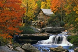 Glade Creek Grist Mill Prints by Robert Glusic