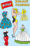 Archie Comics Fashions: Betty's Summer Fashions Poster