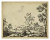 Classical Landscape II Giclee Print by B. Pinelli