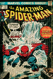 Marvel Comics Retro: The Amazing Spider-Man Comic Book Cover 151, Flooding (aged) Posters