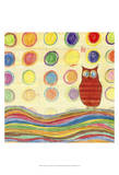 Feathers, Dots & Stripes IV Prints by Ingrid Blixt