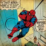 Marvel Comics Retro: Muhteşem Örümcek Adam Çizgi Roma Karesi (eskitilmiş) - Art Print