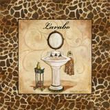 Giraffe Lavabo Plakater af Gregory Gorham