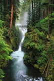 Sol Duc Falls Cascading Through Rainforest Poster by Mark Karrass