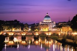 Sant'Angelo Bridge over Tiber River Posters af Dennis Degnan