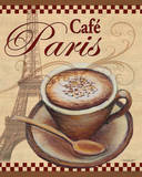 Paris Cafe Art Print by Todd Williams