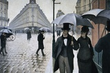 Paris, A Rainy Day Poster by Gustave Caillebotte