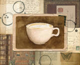 Vintage Cappuccino Posters by Lynnea Washburn
