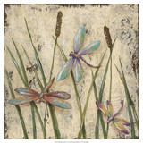 Dancing Dragonflies I Print by Jade Reynolds