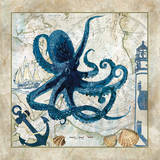 Nautical Octopus Posters af Jill Meyer