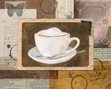 Vintage Latte Poster von Lynnea Washburn