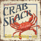 Crab Shack Print by Debbie DeWitt