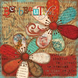 Just Be Beautiful Print by Victoria Hutto