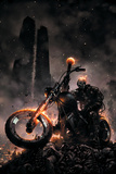 Ghost Rider No.6 Cover: Ghost Rider Posters af Clayton Crain
