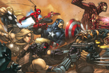Ultimates No.3 Cover: Captain America Kunstdrucke von Joe Madureira