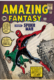 Marvel Comics Retro: Amazing Fantasy Comic Book Cover No.15, Introducing Spider Man (aged) Prints