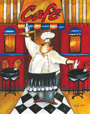 Caf&#233; Print by Jennifer Garant
