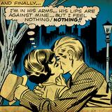 Marvel Comics Retro: Love Comic Panel, Kissing in the Park (aged) Plakater