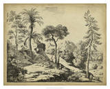 Classical Landscape I Giclee Print by B. Pinelli