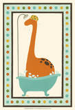 Rub-A-Dub Dino I Print by June Erica Vess