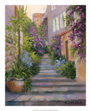 Stairway Of Flowers Posters by Mary Jean Weber
