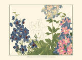 Small Japanese Flower Garden III Prints by Konan Tanigami