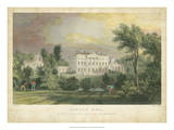 Howick Hall Print by T. Allom