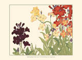 Small Japanese Flower Garden I Print by Konan Tanigami