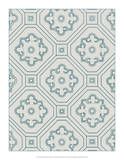 Ornamental Pattern in Teal IV Giclee Print